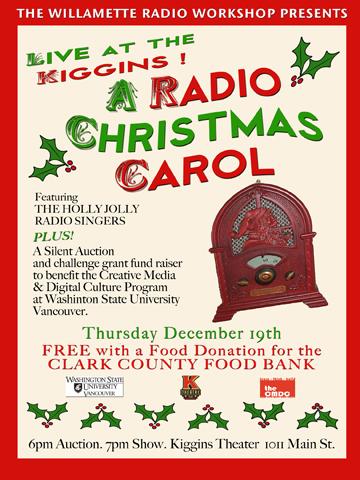 Radio Christmas Carol, December 2013