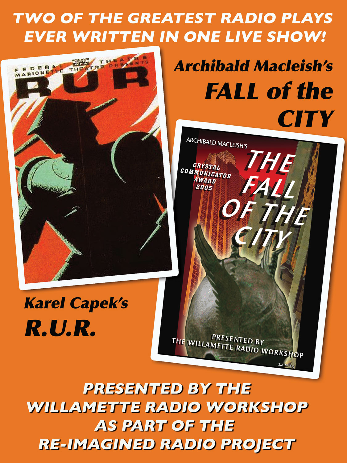 Fall of the City and R.U.R., October 2015